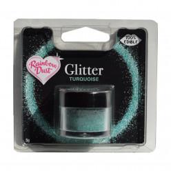 Purpurinas Comestíveis Glitter Turquoise RD