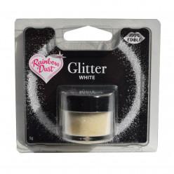 Purpurinas Comestíveis Glitter White RD
