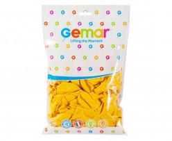 """Saco 100 Balões Amarelo Torrado 12"""" (30cm)"""