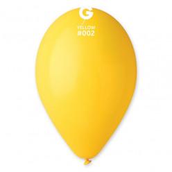 """Saco 100 Balões Amarelos 10"""" (26cm)"""