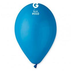 """Saco 100 Balões Azuis 10"""" (26cm)"""