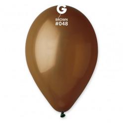 """Saco 100 Balões Castanho 10"""" (26cm)"""
