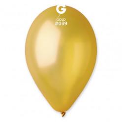 """Saco 100 Balões Dourados 11"""" (28cm)"""