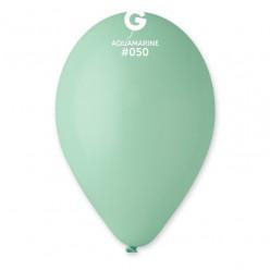 """Saco 100 Balões Menta 10"""" (26cm)"""