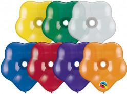 """Saco 100 Balões Qualatex Flores 6"""" (15cm)"""