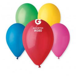 """Saco 100 Balões Sortidos 10"""" (26cm)"""