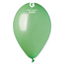 Saco 100 Balões Verde Menta Metalizado 12 (30cm)
