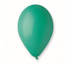 """Saco 100 Balões Verde Turquesa 10"""" (26cm)"""