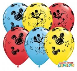 """Saco 25 Balões Mickey Sortidos 11"""""""