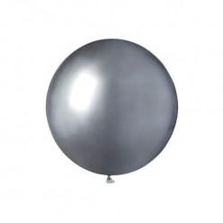 Saco 25 Balões Prateado Brilhante 19 (48cm)