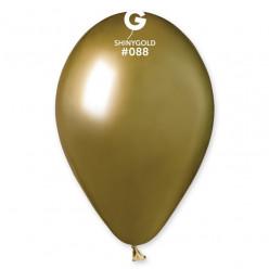 """Saco 50 Balões Dourado Shiny 13"""" (33cm)"""