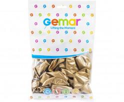 Saco 50 Balões Dourado Shiny 13''
