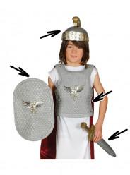Set Armadura Romano Infantil Prateado
