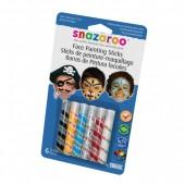 Snazaroo Barras Pintura Facial Menino Pack 6