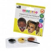 Snazaroo Kit Pinturas Faciais Leopardo e Leão - 10 Faces