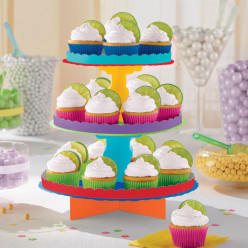Stand 3 andares Cupcakes 29cm Arco Iris