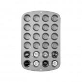 Tabuleiro alumínio 24 Mini Queques Wilton