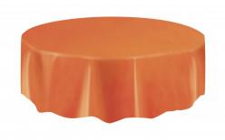 Toalha redonda festa laranja