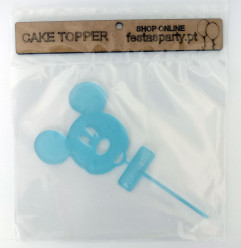 Topper Bolo Mickey Azul Bebé