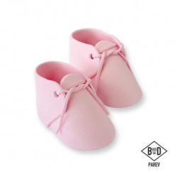 Topper Bolo Sapatos Bebé Rosa PME 2 uni