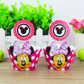 Toppers para cupcakes Minnie