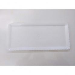 Travessa Plástica Branca 40x18cm