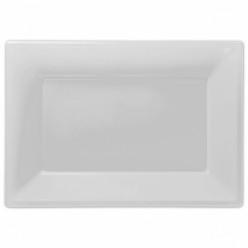 Travessas Plásticas Branco 3 unid