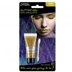 Tubo Gel c/ aplicador Glitter Dourado 14ml