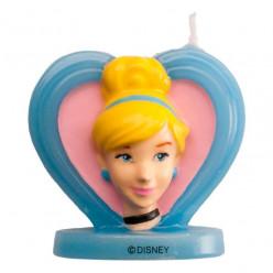 Vela 3D Cinderela Princesas