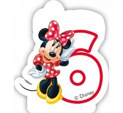 Vela Aniversário Minnie Nº 6
