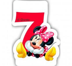 Vela Aniversário Minnie Nº 7