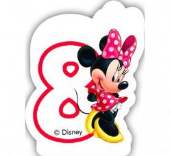 Vela Aniversário Minnie Nº 8