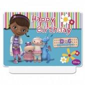 Vela Doutora Brinquedos Happy Birthday
