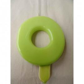 Vela nº 0 Verde Pistachio 9,5cm
