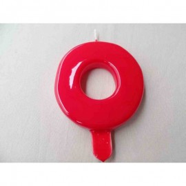 Vela nº 0 Vermelho 9,5cm