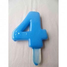 Vela nº 4 Azul Bebé 9,5cm