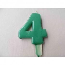Vela nº 4 Verde 9,5cm