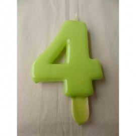 Vela nº 4 Verde Pistachio 9,5cm