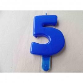 Vela nº 5 Azul 9,5cm