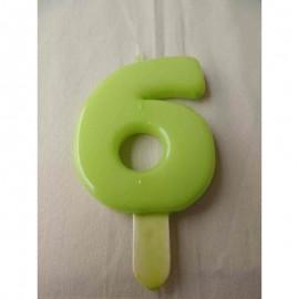Vela nº 6 Verde Pistachio 9,5cm