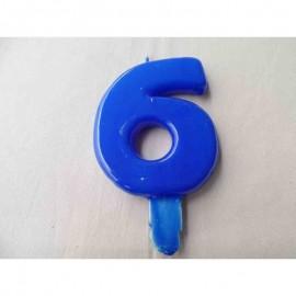 Vela nº 7 Azul 9,5cm