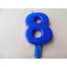 Vela nº 8 Azul 9,5cm