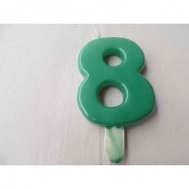 Vela nº 8 Verde 9,5cm