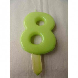 Vela nº 8 Verde Pistachio 9,5cm