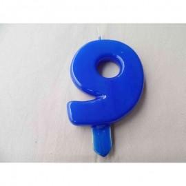 Vela nº 9 Azul 9,5cm