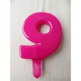 Vela nº 9 Magenta 9,5cm