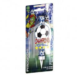 Vela Sparkle Foguete Futebol 15cm