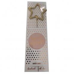 Vela Sparkler Estrela Dourada