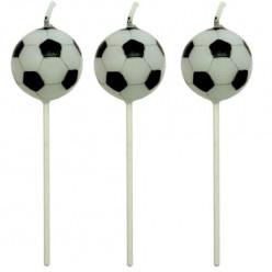 Velas Bolas de Futebol 4 uni